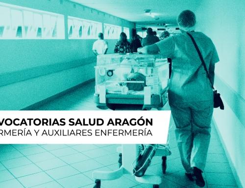Convocatoria de Enfermería y Auxiliares de Enfermería de Salud Aragón